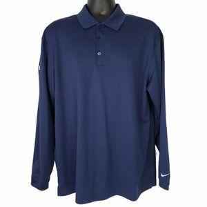 Nike Golf Men's Long Sleeve Pullover Polo Shirt